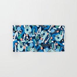 CIRCLES IN MOTION - GREEN/ BLUE brush stroke Hand & Bath Towel