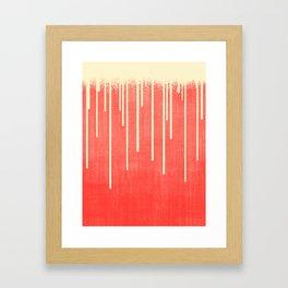 DROPS / Living Coral, Ivory Framed Art Print