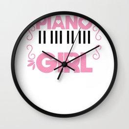 Piano Girl Pianist Music Lover Musician Cute Gift Wall Clock