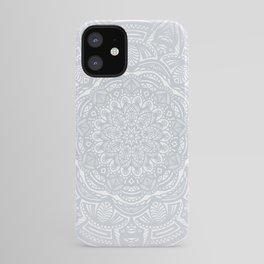 Light Gray Ethnic Eclectic Detailed Mandala Minimal Minimalistic iPhone Case