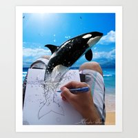 killer whale Art Prints featuring Killer Whale by Fahrudin