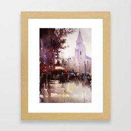 Paris painting Framed Art Print