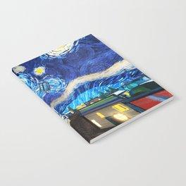 Tardis Art Starry City Night Notebook