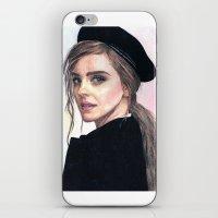 emma watson iPhone & iPod Skins featuring Emma Watson by alice kasper