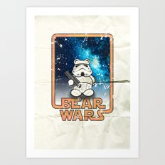 Bear Wars Vintage - Bear Trooper Art Print