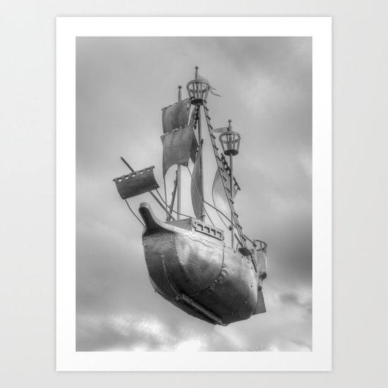 Sky sailor Art Print