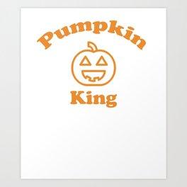 Pumpkin King | Halloween Art Print