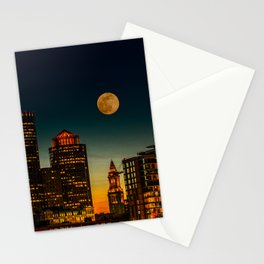 Boston Pink  Moon Stationery Cards