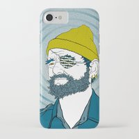 steve zissou iPhone & iPod Cases featuring Steve Zissou by Chelsea Kepner