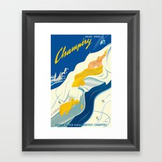Vintage Champery Switzerland Travel Framed Art Print