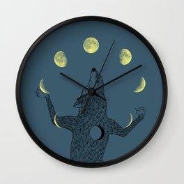 Moon Juggler Wall Clock