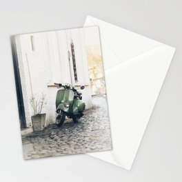 Green Moped Stationery Cards