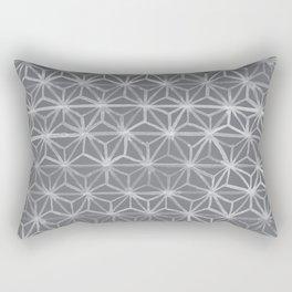 Japanese Tie Dye in Pebble Rectangular Pillow