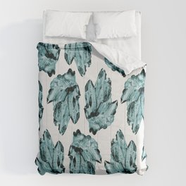 blue raspberry crystal cluster Comforters