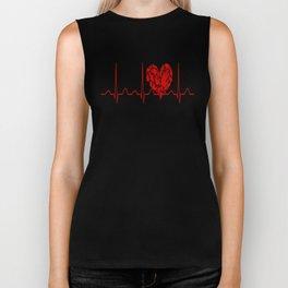Social Worker Heartbeat Biker Tank