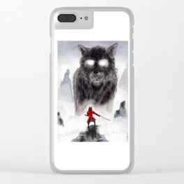 The Wolf of Bushido Clear iPhone Case