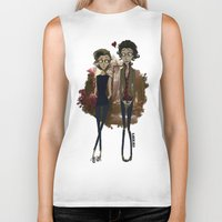 "tim burton Biker Tanks featuring "" Larry Burton "" by Karu Kara"