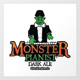 Monster Pianist Dark Ale Art Print
