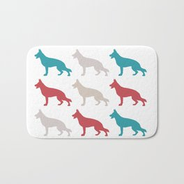 german sheppard | pattern Bath Mat