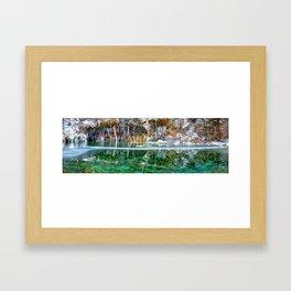 A Serene Chill - Hanging Lake Colorado Panorama Framed Art Print