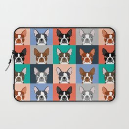 Boston Terriers tile pattern cute boston terrier puppies funny dog breed pet art gift for dog person Laptop Sleeve
