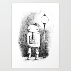 Hobo Robot Art Print