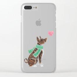 Watercolour Basenji Clear iPhone Case