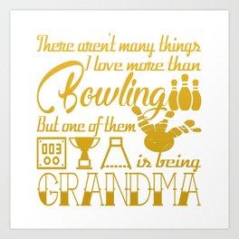 Bowling Grandma Art Print