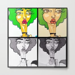 Quadruple Threat Metal Print