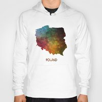 poland Hoodies featuring Poland map  by jbjart
