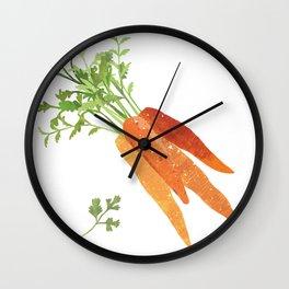 Carrot Illustration Wall Clock