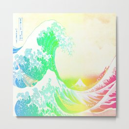 The Great Wave Rainbow Metal Print