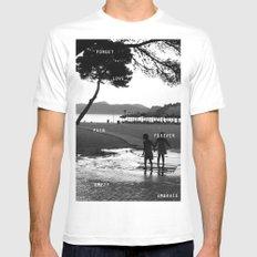 Beach Mens Fitted Tee MEDIUM White