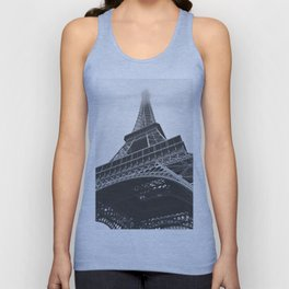Eiffel Tower (Black and White) Unisex Tank Top