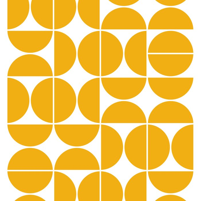 Mid Century Modern Geometric 04 Yellow Bettbezug