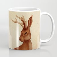 jackalope Mugs featuring Jackalope by Sarah DC