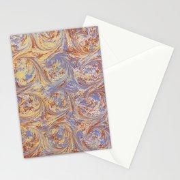 Bird's Nest Marbling Pattern Stationery Cards