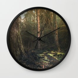 Olympic National Park - Pacific Northwest Nature Photography Wall Clock