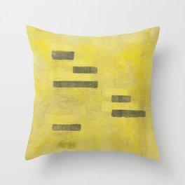 Stasis Gray & Gold 3 Throw Pillow