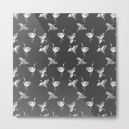 Cranes Pattern Metal Print