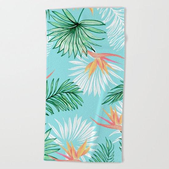 Tropic Palm #society6 #decor #buyart Beach Towel