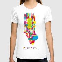 manhattan T-shirts featuring Manhattan Fragments by Glen Gould
