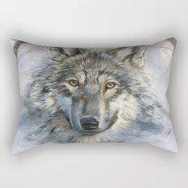 Dreamcatcher - Spirit Animal Wolf Rectangular Pillow