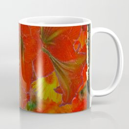 GRUNGY ANTIQUE RED FLORAL STILL LIFE BOUQUET Coffee Mug