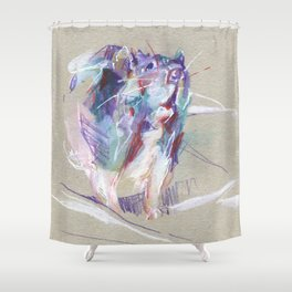 Purple rat Shower Curtain