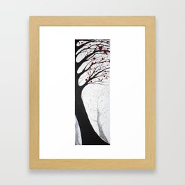 Leaning Tree Framed Art Print