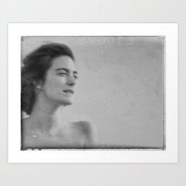 CATHEDRAL WOMAN, LES-SAINTES-MARIES-DE-LA-MER, FRANCE Art Print