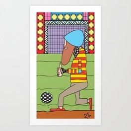 Rasta Soccer!!! Art Print