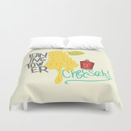 Leaning Tower of Cheesah! Duvet Cover