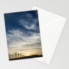 Wind Turbines Landscape Stationery Cards